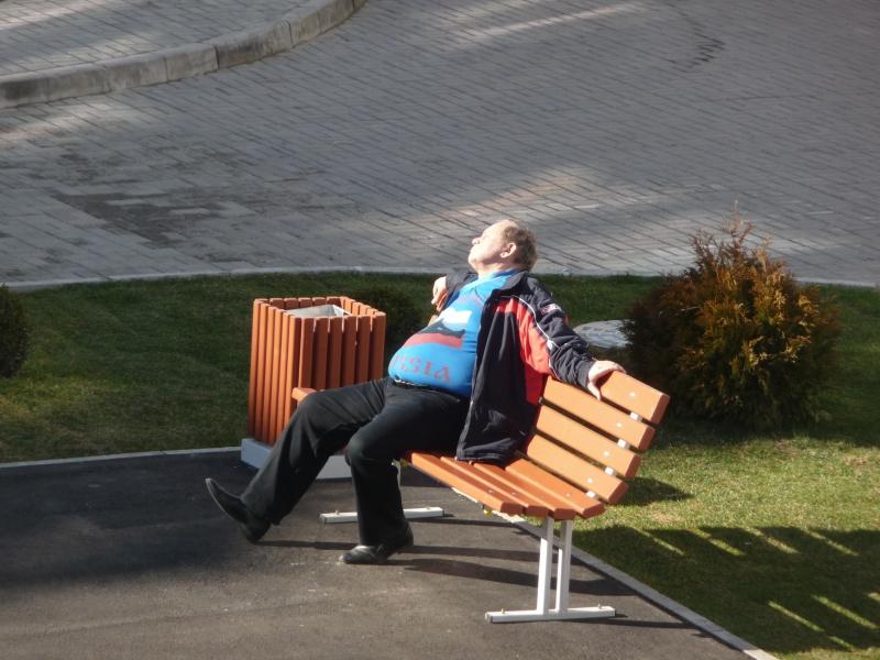 Entspannte Russen